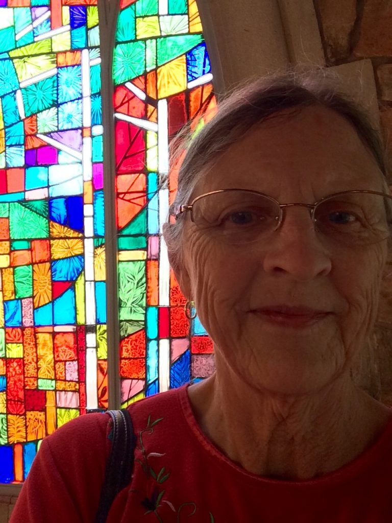 Re. Pam Gehrke at at Ida Cason Callaway Memorial Chapel, Callaway Gardens, 2017